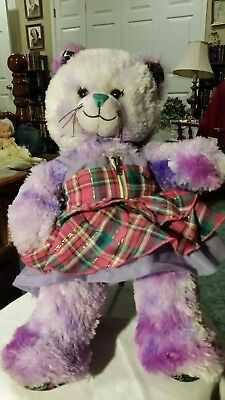 bed7a661823 Build A Bear Purple Tie Dye Peace BFF Kitty Cat 16