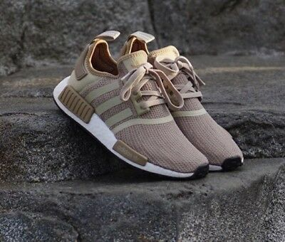 detailing 1d25c 651f8 ADIDAS MEN'S ORIGINALS NMD R1 NEW AUTHENTIC Brown/Raw Gold ...
