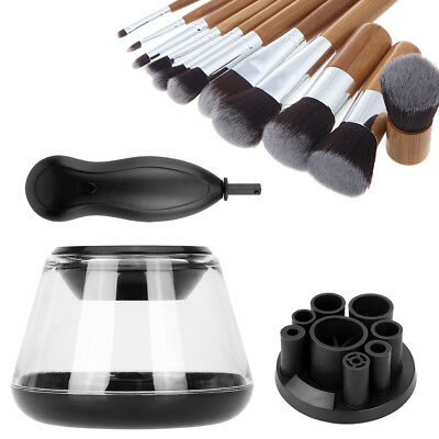 Electric Makeup Brush Cleaner Set Cosmetic Wash Dryer Brush Cleaning Tool Kit US