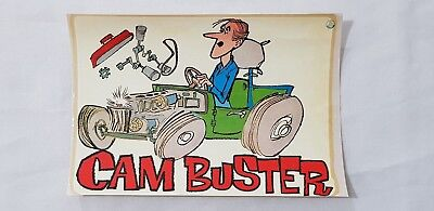 Original Retro Novelty Waterslide Decal / Cam Buster
