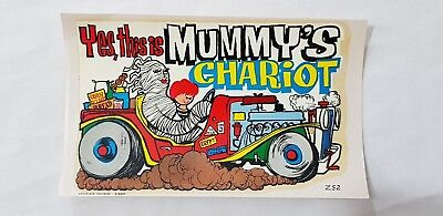 Original Retro Novelty Waterslide Decal / Yes This Is Mummy's Chariot