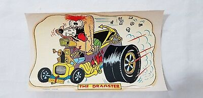Original Retro Novelty Waterslide Decal / The Dragster