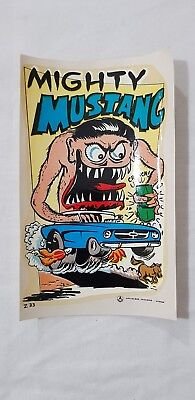Original Retro Novelty Waterslide Decal / Mighty Mustang