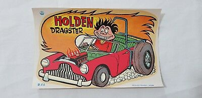 Original Retro Novelty Waterslide Decal / Holden Dragster