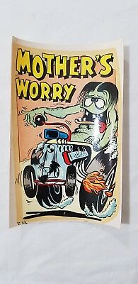 Original Retro Novelty Waterslide Decal / Mother's Worry