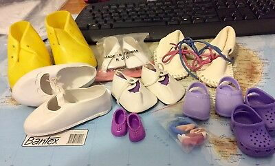 Bulk Lot Of Shoes For Dolls Various Sizes Free Postage