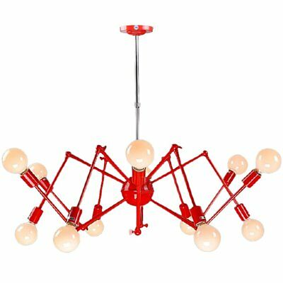Vintage Metal Spider Pendant Light Fixture Wrought Iron Bar Gallery Ceiling Lamp