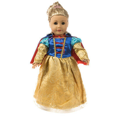 Handmade Cosplay Snow White Dress Clothes For 18 inch American Girl Doll