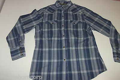 c3a90e1798e49 TIN HAUL Women s Pearl Snap Shirt - L Large - Western -100% Cotton-