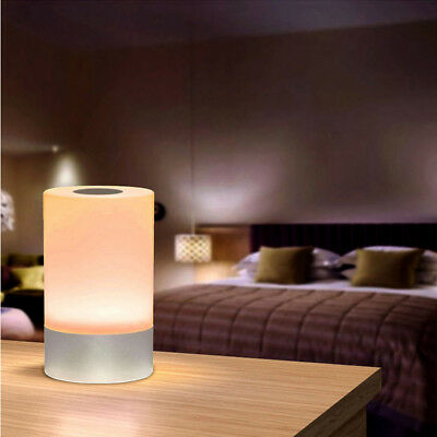 Bedside Sensor LED Table Lamp Dimmable Changing Smart Atmosphere Lamp US STOCK