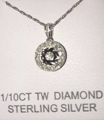 ba3f687ce DIAMONDS IN RHYTHM 1/20 ct tw Necklace Sterling Silver/10K Gold ...