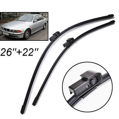 "Front Windscreen Wiper Blades For BMW 5 Series E39 1995-2003 Saloon 26"" 22"""
