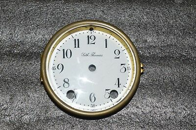 Antique Seth Thomas Porcelain Dial With Beveled Glass For Mantel Clock.