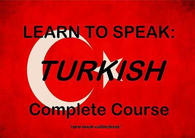 Learn To Speak Turkish - Language Course - 2 Books & 18 Hrs Audio Mp3 All On Dvd