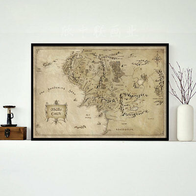 Map Middle-earth map canvas photographic paper poster painting Lord of the Rings