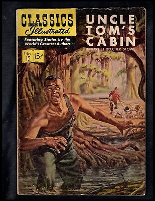 Classics Illustrated #15 G+  Hrn146  (Uncle Tom's Cabin) Free Ship On $15 Order!
