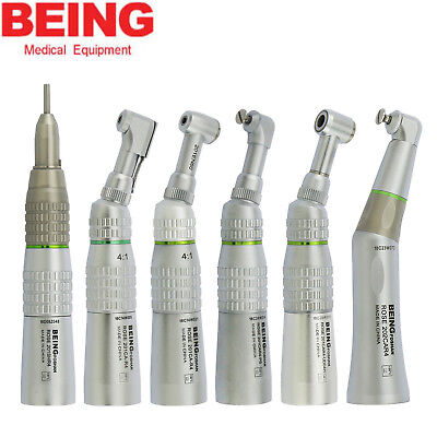 BEING 4:1 Dental Low Speed Contra Angle Handpiece Prophy Latch Push Button Endo