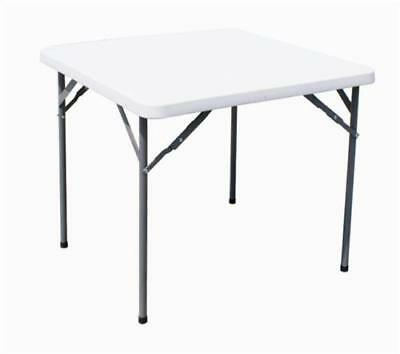 Square Heavy Duty 86Cm Folding Table Picnic Camping Banquet Party Garden Tables