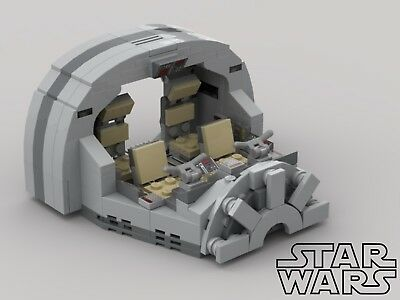 **SALE** Custom Lego Millenium Falcon Cockpit - PDF Instructions Only