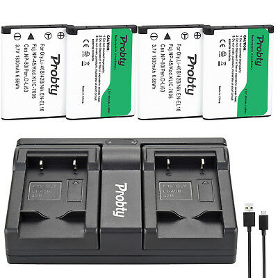 LI-40B LI-42B Battery + Charger for Olympus D-630 D-720 D-725 IR-300 FE-20 150