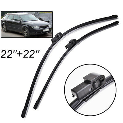 "22""22"" Front Windscreen Wiper Blades Kit Fit For Audi A4 B6 8E 8H 2000-2003"