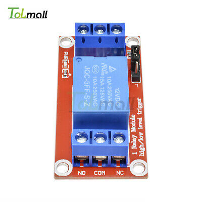DC 12V 1-Channel H/L Level Relay Module with Optocoupler Triger for Arduino