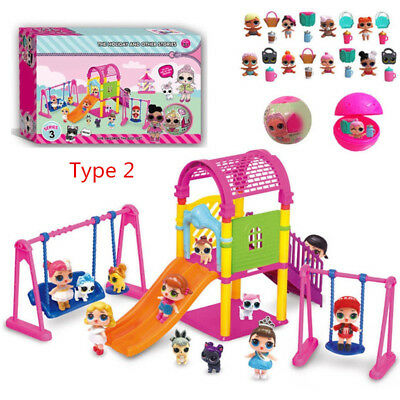 DOL LOL Surprise Doll Park house Game slide Playset Baby Girls Kids Gift Toy