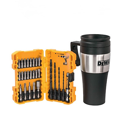 DeWalt DT71580 26 Piece Rapid Load Hex Screwdriver Drill Bit Set + Thermo Mug