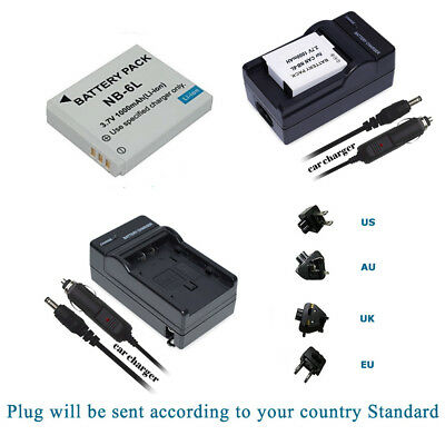 NB-6L NB6LH Battery +Charger for Canon Powershot SD1200 SD980 SX500 IS SX510