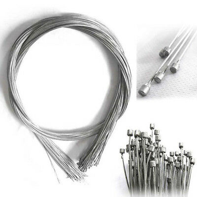 10 pcs Shifter Shift cable Bowden bike racer 190cm*1.2mm Silver M8D3