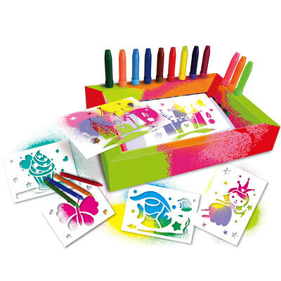 Blow pens Activity,12 colour pens,Create airbrush pictures, great gift for girls