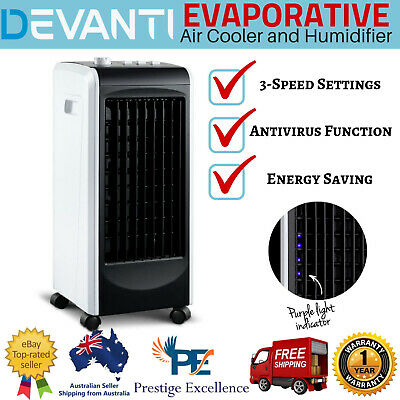 Evaporative Air Cooler Portable Indoor Fan Humidifier Conditioner Cooling Swing