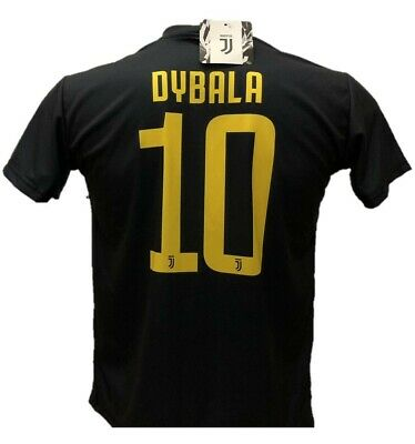 PAULO DYBALA 10 JUVENTUS 2018/2019 Third black jersey Uniform Replica OFFICIAL