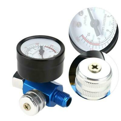 "1/4"" Spray Paint Gun Air Pressure Regulator Gauge Pneumatic Tool Accessory"