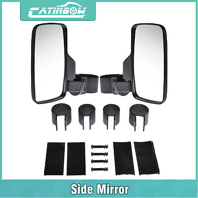 "Side Rear View Mirror UTV Set Offroad 1.6"" - 2""  Break Away Large Wide View Race"