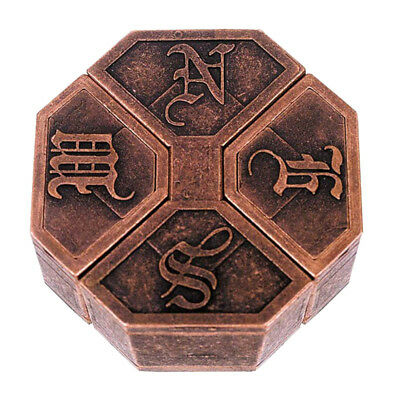 Vintage Metal Cast Puzzle Box Lock Puzzle Toy IQ EQ Mind Brain Teaser Kid Gift