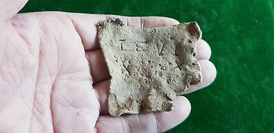 Roman  lead part tablet with Writing 2nd - 3rd Century detector find york