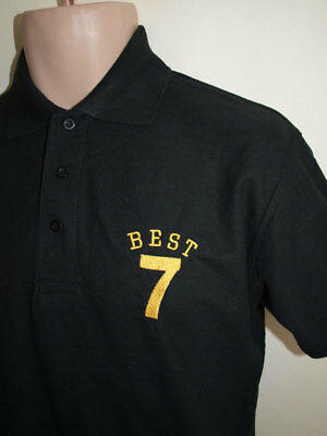 Manchester United George Best No 7 Polo Shirt(Black)
