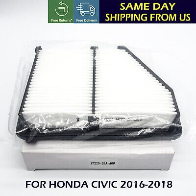 NEW Genuine Air Filter For 2016-2019 Honda Civic 2.0L Engine 17220-5BA-A00 US