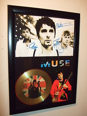Muse   Signed  Gold Cd  Disc  915