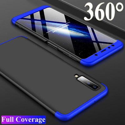 For Samsung Galaxy A7 2018/A750 J4 J6 Plus Case 360° Full Protective Armor Cover