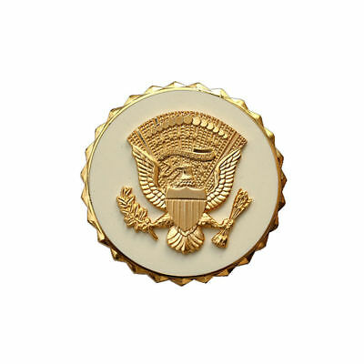 Us Presidential Service Metal Badge Pin Insignia Golden Color