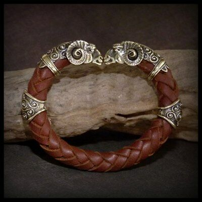 "Bracelet ""Golden fleece"" leather cord"