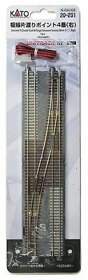 KATO N gauge double wire one crossing point 4th right 20-231 railroad Japan