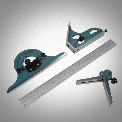 Green Engineers Combination Square Set Angle Finder Protractor Measuring Ruler