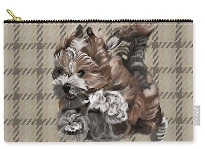 """Tote - Havanese Puppy  Large Carry All Pouch 8.5"""" x 12.5"""""""