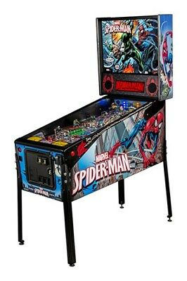 NEW LED Stern Spiderman Vault Pinball Machine with EXTRAS!!