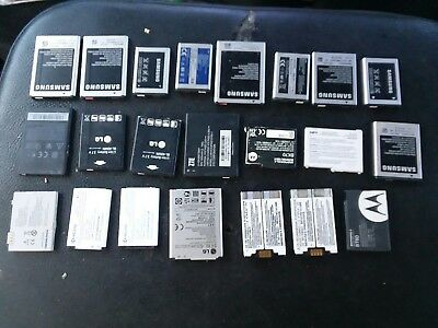 21 cell phone battery lot.