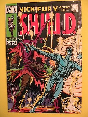 NICK FURY AGENT OF SHIELD # 9 February 1969 Marvel Comics S.H.I.E.L.D. VG Cond.