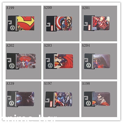 DC Marvel Comics Superhero Wallet Captain America Batman Superman Short Purse
